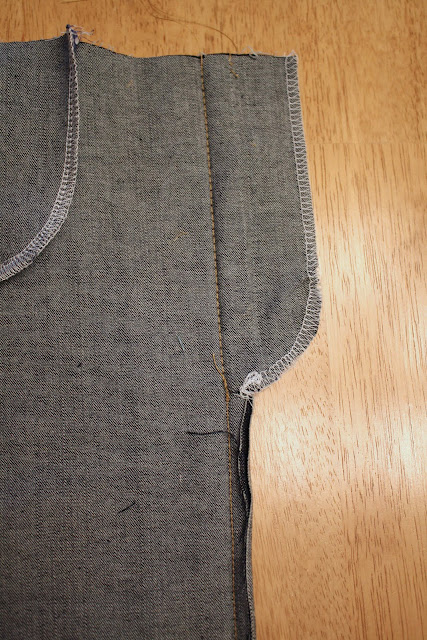 stitch center seam for zipper fly
