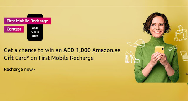 Chance to Win Free 1000 AED Voucher with First mobile recharge in UAE