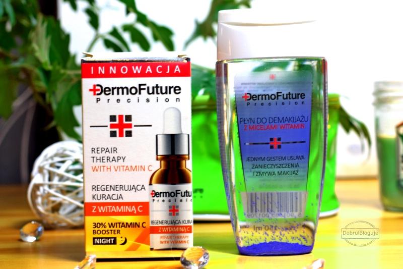 Dermofuture :Zestaw kuracja z witaminą C 20 ml + Płyn z micelami witamin 150 ml.