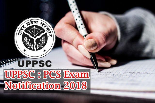 UPPSC notification 2018 : Apply Online PCS 2018
