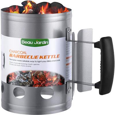 BEAU JARDIN encendedor de carbón para barbacoa