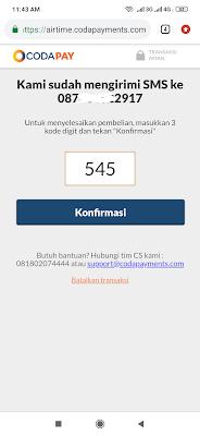 kode konfirmasi PUBG mobile