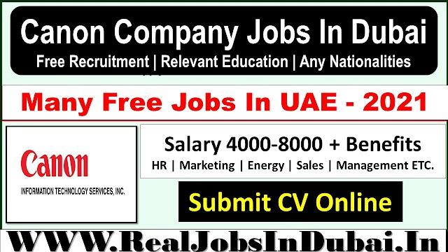 Canon Company Jobs In Dubai  UAE 2021