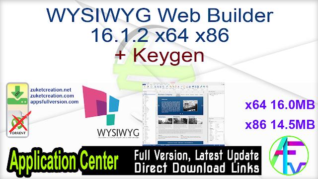 WYSIWYG Web Builder 16.1.2 x64 x86 + Keygen