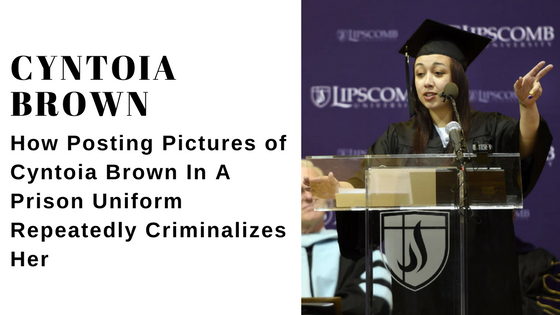 Cyntoia Brown delivering a commencement speech at Lipscomb University