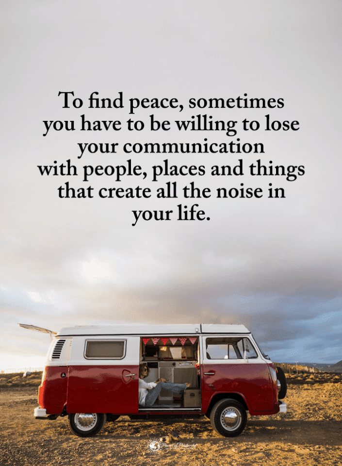 To find peace, sometimes you have to be willing to lose your ...