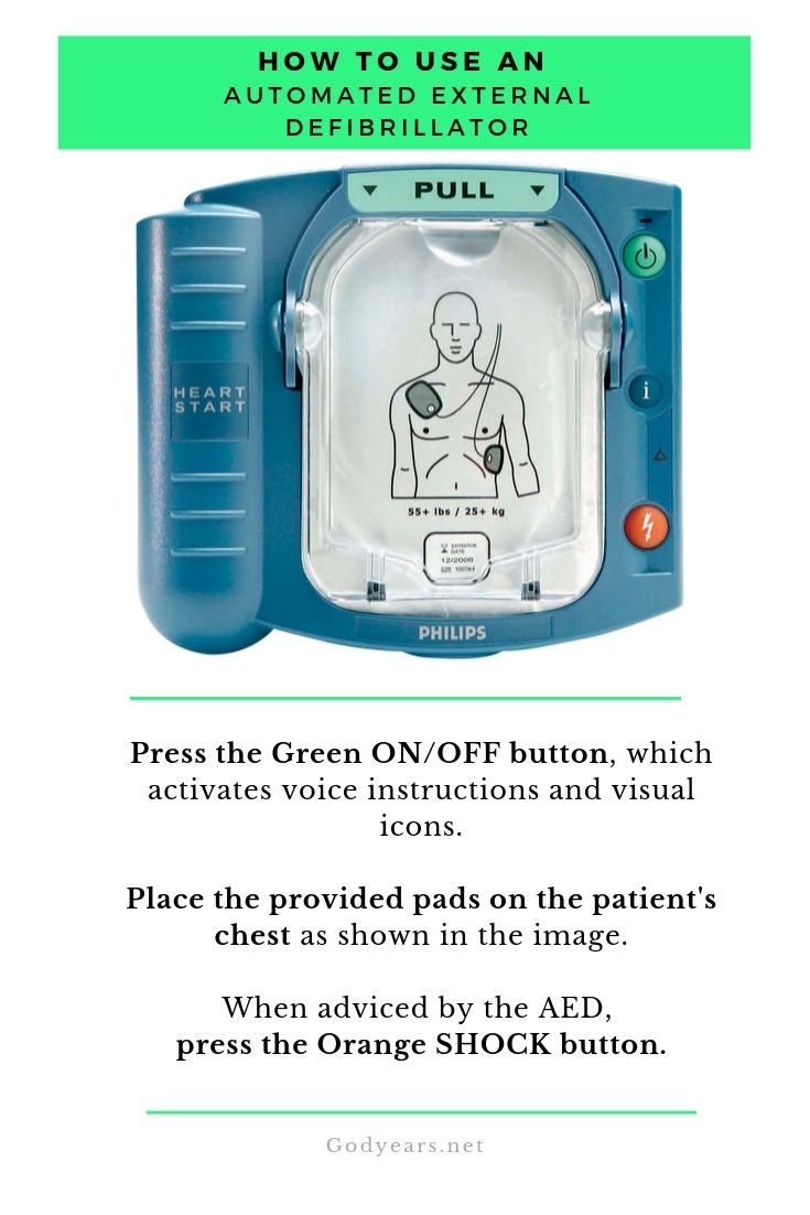 The easy steps to use an Automated External Defibrillator #SaveLife #SaveHeart