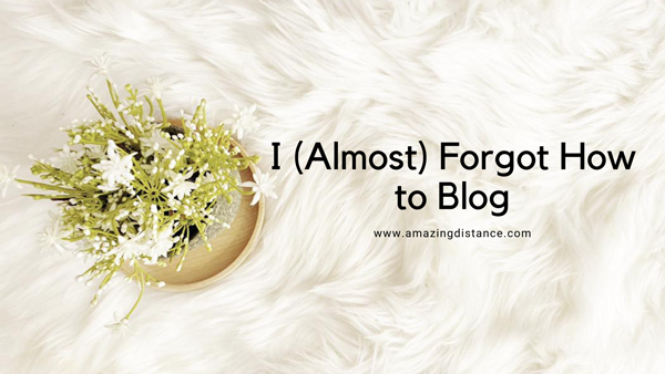 I (almost) forgot how to blog