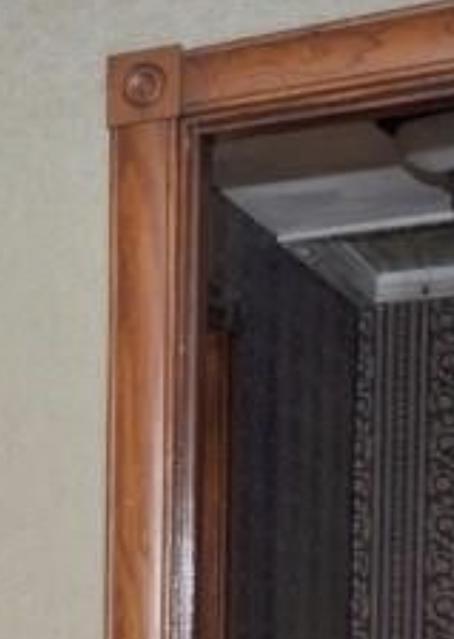 color photo of corner block trim inside a Sears Avoca