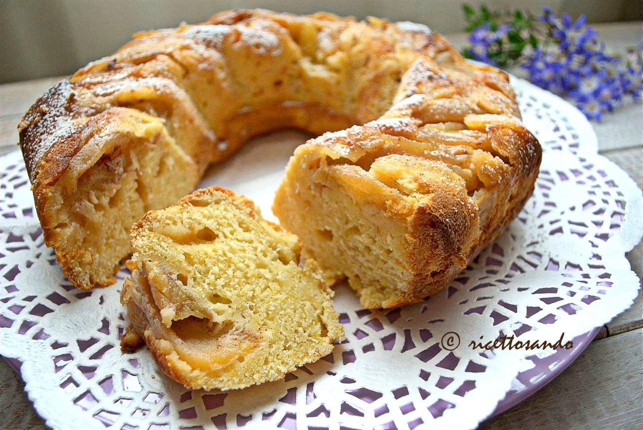 Ciambella soffice alla ricotta e mele ricetta torta dolce soffice