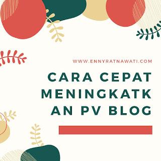 cara cepat meningkatkan pv blog