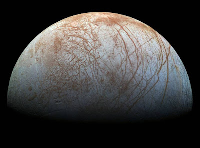 NASA's Europa Clipper mission is being designed to fly by the icy Jovian moon multiple times and investigate whether it possesses the ingredients necessary for life. Credits: NASA/JPL-Caltech/SETI Institute.