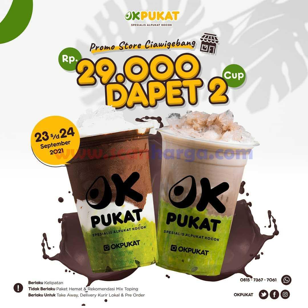 Promo OKPUKAT DAPET 2 CUP OK PUKAT Harga cuma Rp. 29.000