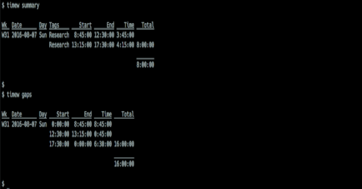 TimeWarrior : Commandline Time Reporting
