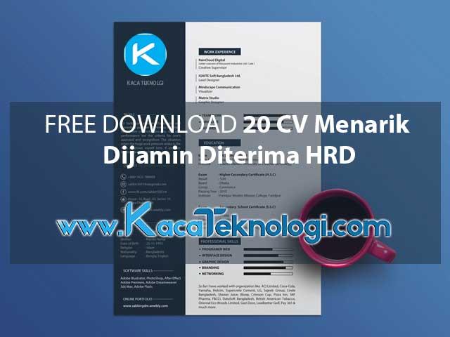 Free Download 10 Contoh Cv Keren Dan Menarik Untuk Fresh Graduate Kaca Teknologi