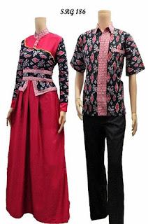 Gamis Batik Kombinasi Celana
