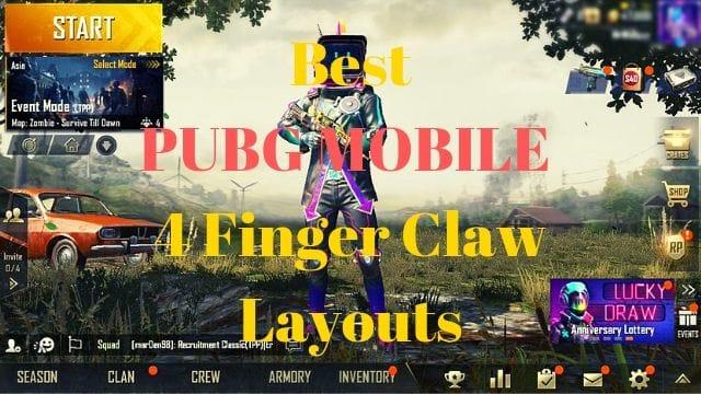 Best 4 Finger Claw PUBG MOBILE Setup
