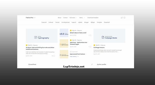 share template fletro v6.0 cho blogspot chuan seo 2021