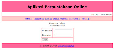 Download Code aplikasi php Perpustakaan Online, Program Perpustakaan Online Lengkap Di phpmysql, Source Code Program Perpustakaan Online Lengkap, download Coding phpmysql aplikasi Reminde, Program Perpustakaan Online phpmysql, Source Coding Program Perpustakaan Online Paling Lengkap, download php source coding program Perpustakaan Online, download source code program Perpustakaan Online menggunakan php mysql, download program skripsi Perpustakaan Online menggunakan phpmysql, Flowchart program Perpustakaan Online php, ASI Program Perpustakaan Online php, Aliran Sistem Informasi Perpustakaan Online, source coding, source code php, ebook, CRUD, belajar php, aplikasi website, pemrograman website, download aplikasi website phpmysql, aplikasi phpmysql, aplikasi php, download aplikasi website php, download source code website.