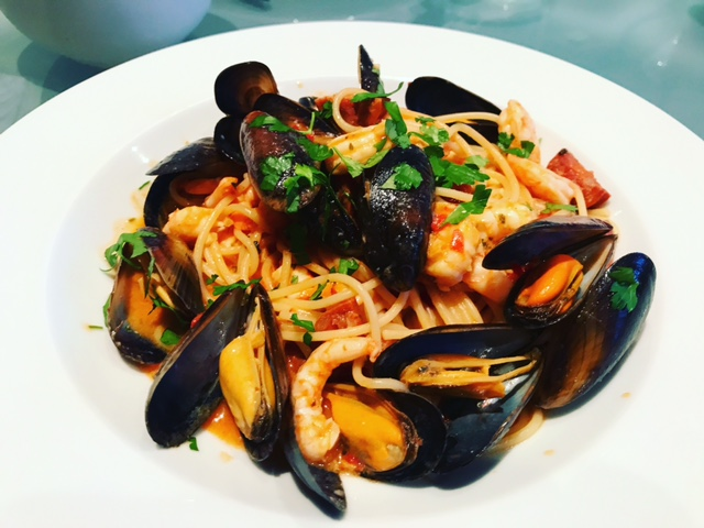 Seafood & Chorizo Spaghetti