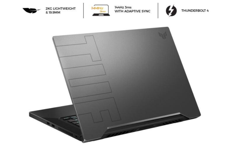 Asus TUF Dash F15 FX516PE I7R5B6T-O, Andalkan Duet Intel Core i7-11370H dan GeForce RTX 3050 Ti