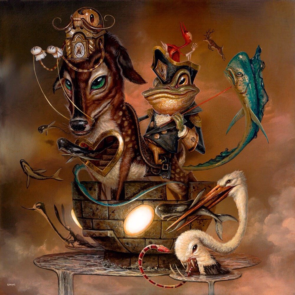 01-Rooks-Move-Greg-Craola-Simkins-Fantastical-Surreal-Paintings-Full-of-Details