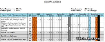 Promes PKn Kelas 9 Kurikulum 2013 Revisi Terbaru