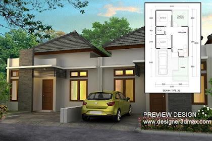 Design 3d photorealistic Rumah T 36 48 60 Gerbang Cluster