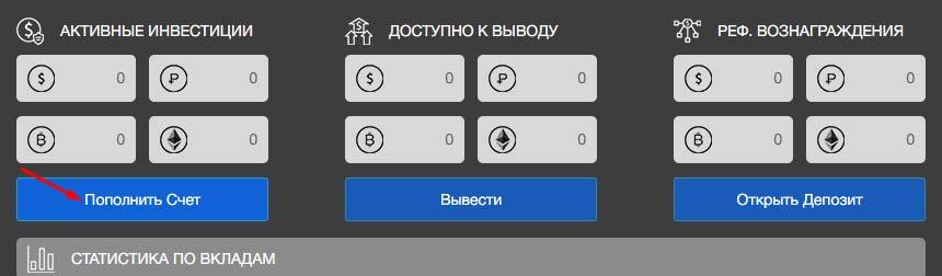 Пополнение баланса в BitWat