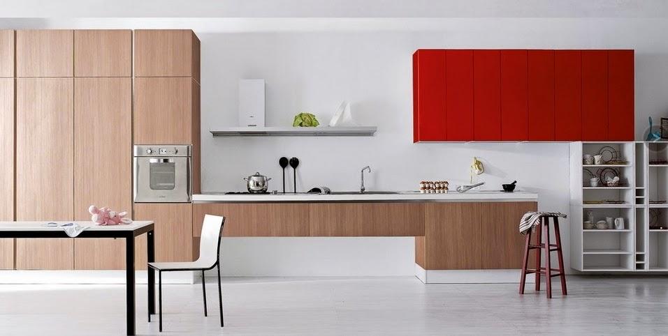 50 ideas de c mo combinar los colores en la cocina for Cocinas color granate