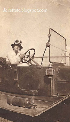 Lucille Rucker Davis at the wheel  https://jollettetc.blogspot.com