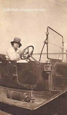 Lucille Rucker Davis at the wheel  https://jollettetc.blogspot.com