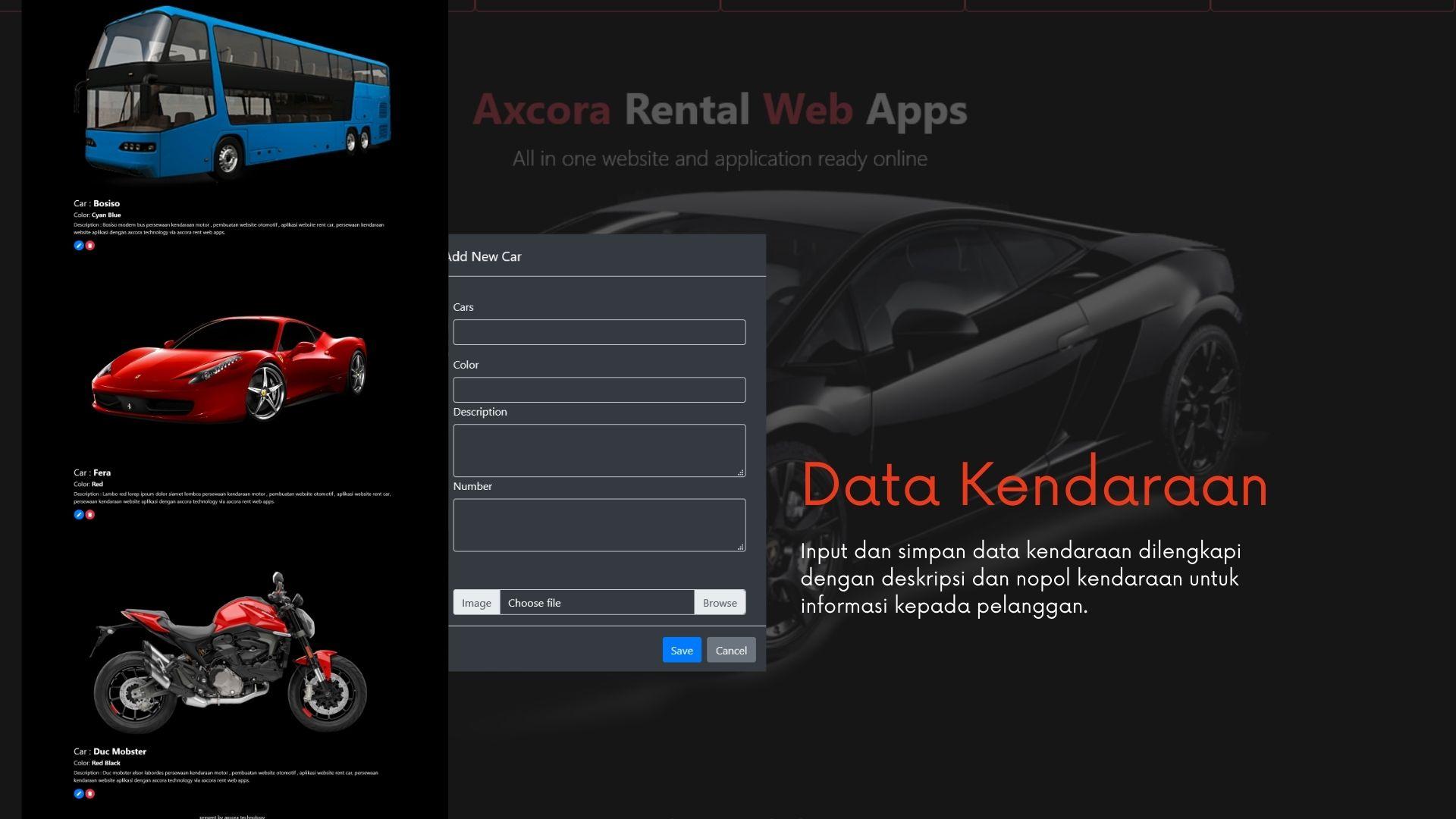 aplikasi rental kendaraan