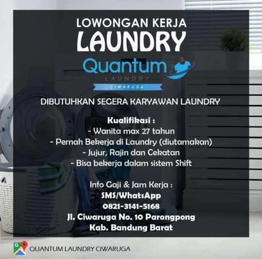 Lowongan Kerja Laundry Bandung 2020 Lulusan Sd Smp 2021
