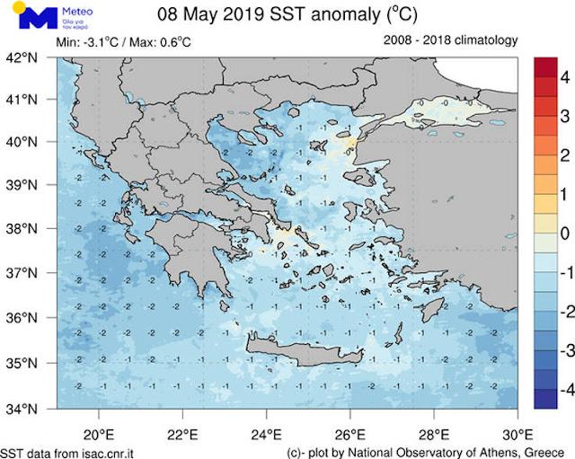 Ψυχρά τα νερά της θάλασσας και στην Αργολίδα - Που οφείλονται οι χαμηλές για την εποχή θερμοκρασίες