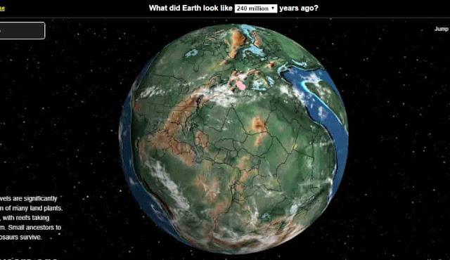موقع معرفة تمركز دولتك أو مدينتك على الكرة الأرضية قبل ملايين السنين Ancient Earth