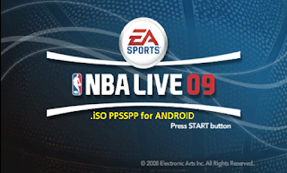 NBA Live 09 iSO PPSSPP for Android  Free Download