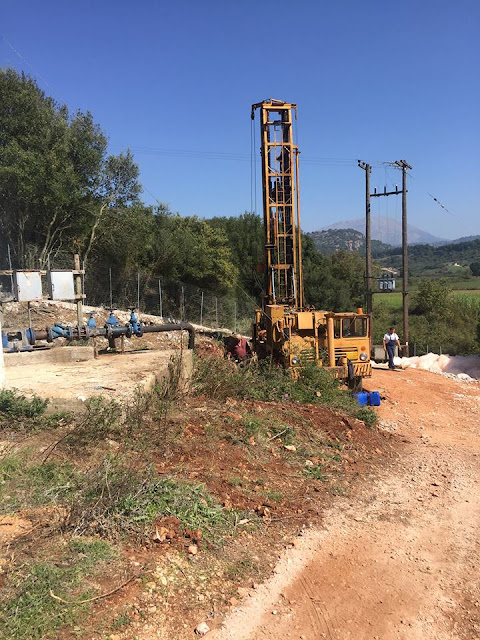 Σειρά παρεμβάσεων για την αναβάθμιση του δικτύου ύδρευσης. Ολοκληρώθηκαν οι εργασίες γεώτρησης στην τοποθεσία Πριάλα της Τ.Κ. Ριζοβουνίου