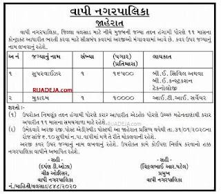 Vapi Nagarpalika Jobs