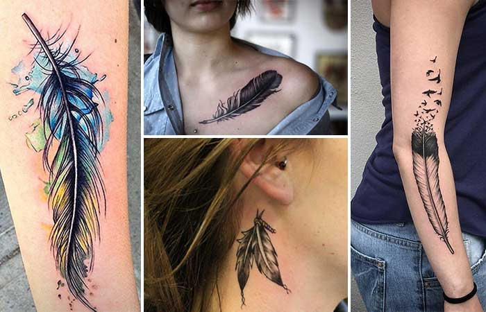 tüy dövmesi modelleri feather tattoo designs