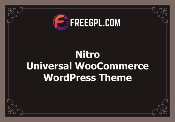 Nitro - Universal WooCommerce Theme from Ecommerce Experts Free Download