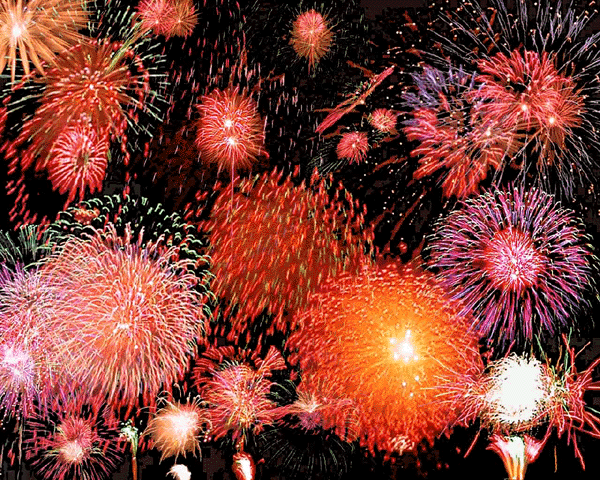 new year fireworks bright