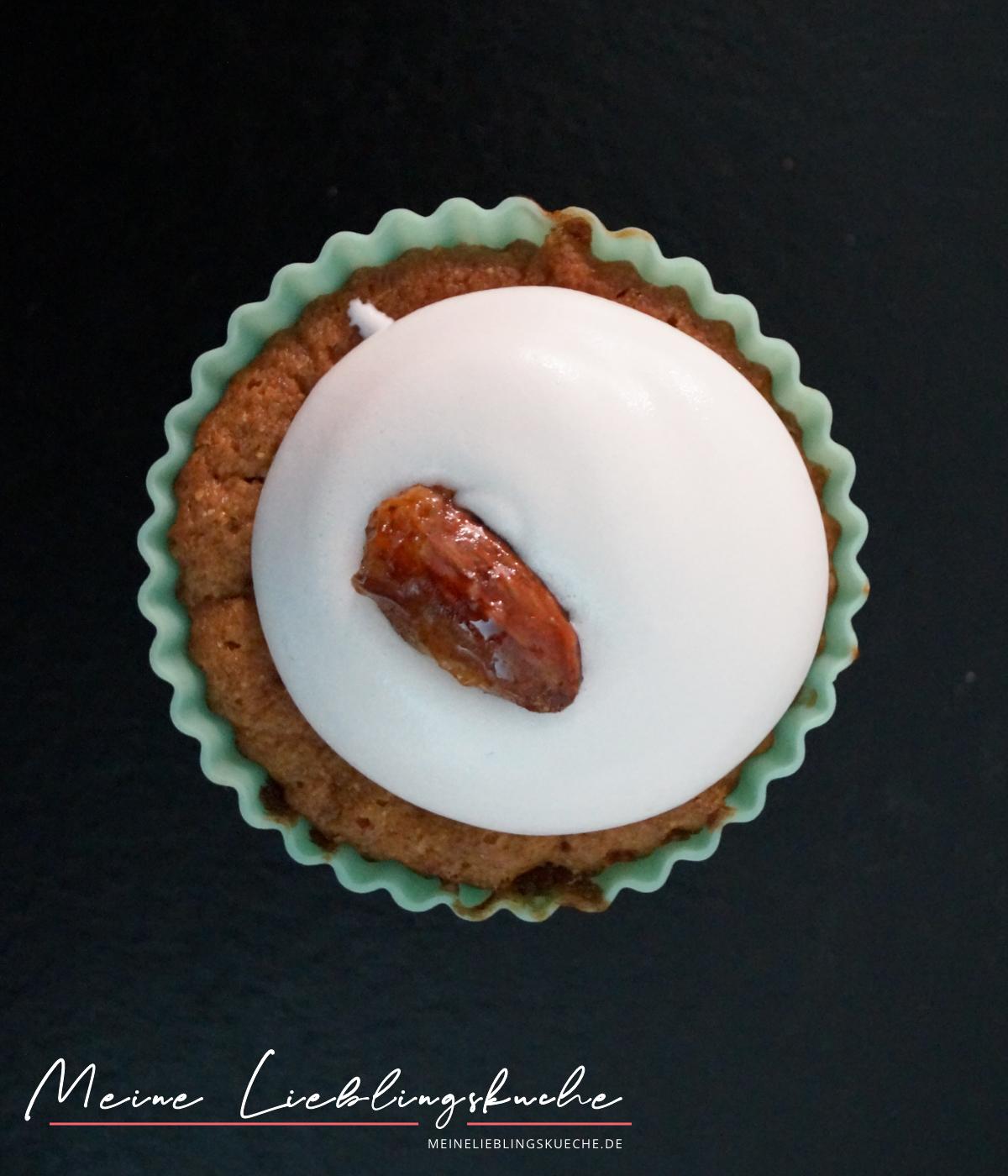 Vegane Gebrannte Mandeln Cupcakes weihnachten nachtisch ausgefallen