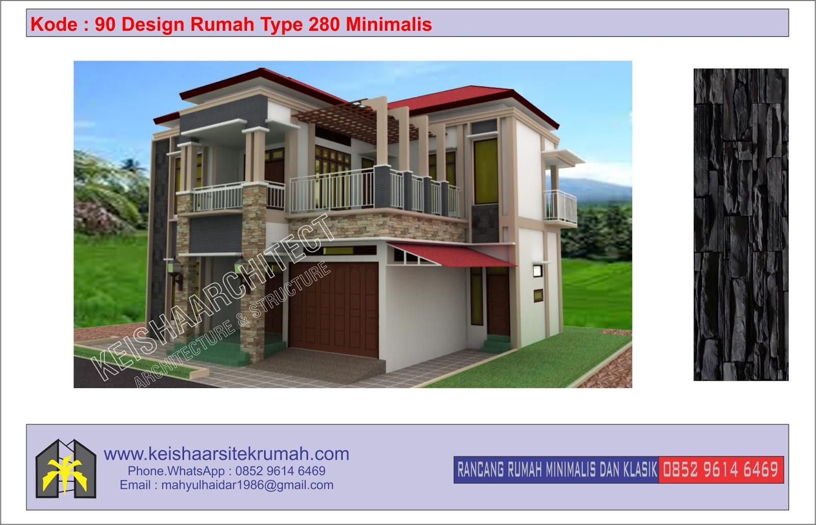 90 Desain Rumah Minimalis Type 36 Cad | Typehom
