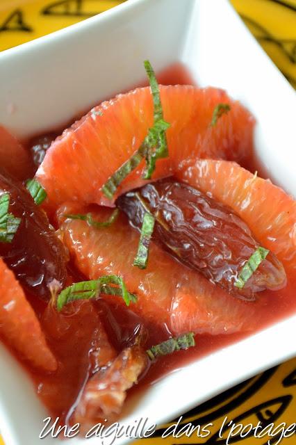 Salade d'oranges et dattes medjool