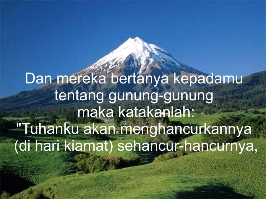 ayat ayat al qur an tentang gunung islamwiki