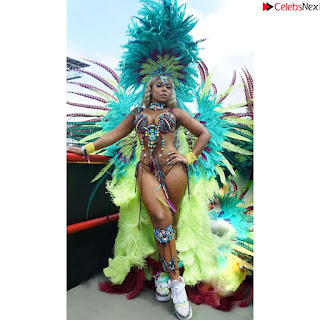 Ashanti huge  at Carnival in Trinidad and Tobago wearing   celebs.in Exclusive Pics 004