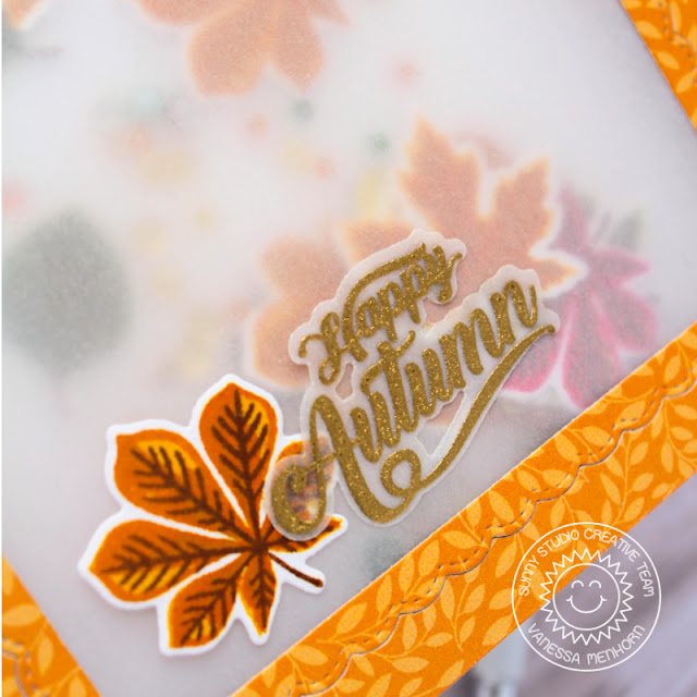 Sunny Studio Stamps: Crisp Autumn Fancy Frame Dies Autumn Themed Card by Vanessa Menhorn