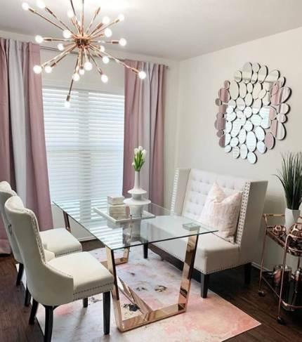 Ruang Tamu rumah minimalis type 36 dengan warna berkesan mewah