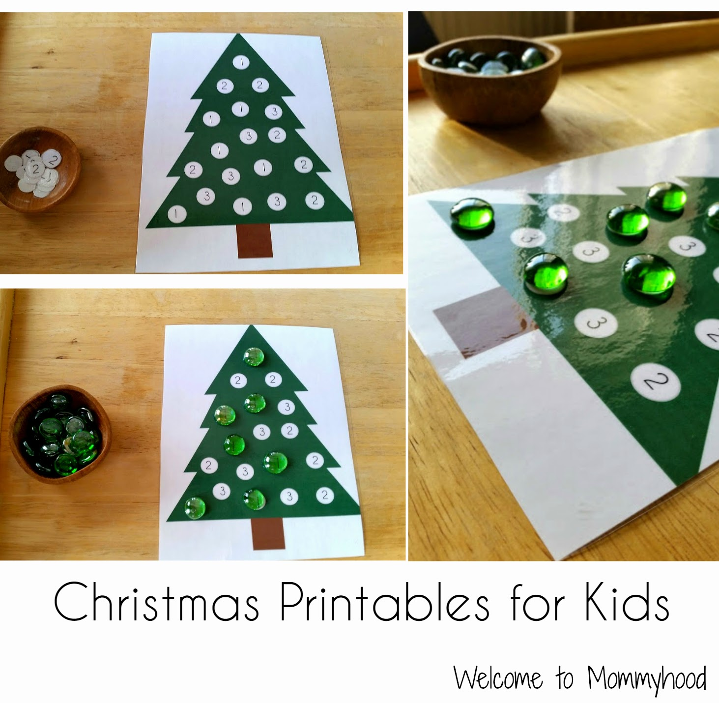 Christmas Activities for Kids: Free Christmas Tree Printables {Welcome to Mommyhood} #montessori, #christmasactivitiesforkids